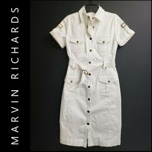 Marvin Richards Woman Button Front Dress White